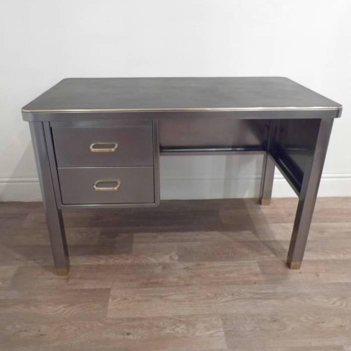 Vintage Industrial Desk Travers Antiques Study/officeDesks