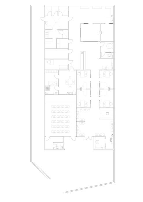 Plano distribución: Oficinas y Tiendas de estilo  de Coup de Grâce  design & events