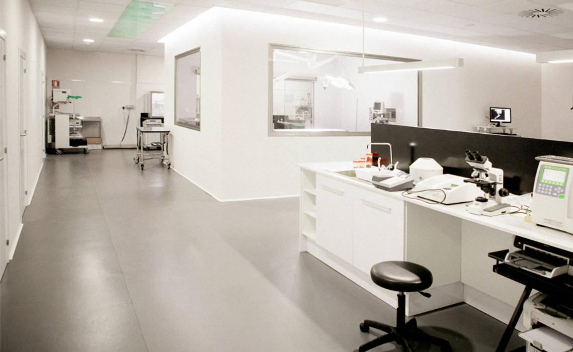 Diseño mesa de laboratorio: Oficinas y Tiendas de estilo  de Coup de Grâce  design & events