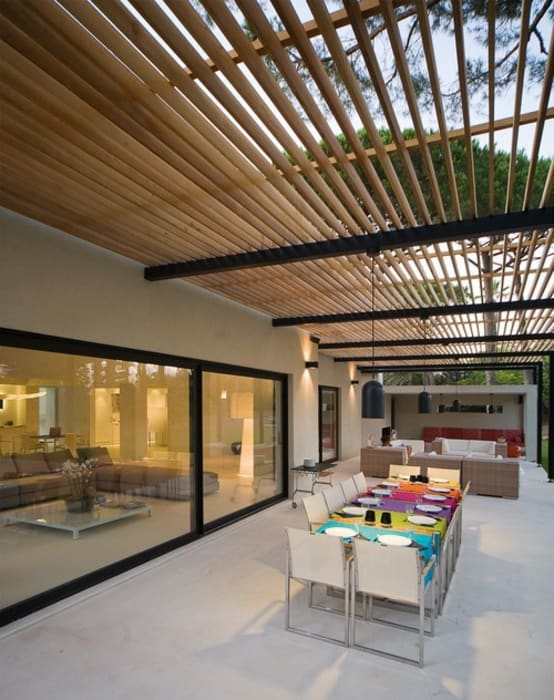 Maison WP: Terrasse de style  par Vincent Coste Architecte, Moderne