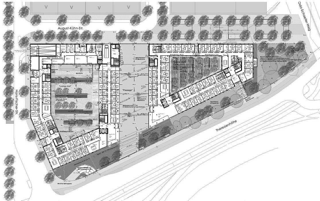 Lageplan Moderne Bürogebäude von grabner huber lipp landschaftsarchitekten und stadtplaner partnerschaft mbb Modern