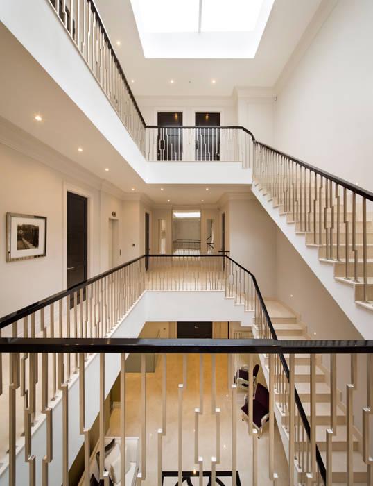 Fairways at the Bishops Avenue Celia Sawyer Luxury Interiors Modern Corridor, Hallway and Staircase