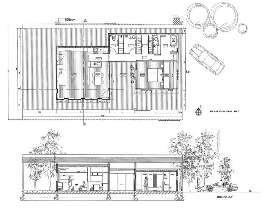 UNE MAISON EVOLUTIVE: Maisons de style de style Moderne par l.ink