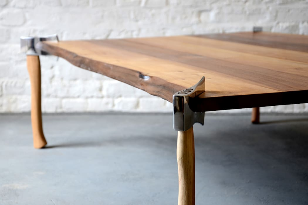 WOODSMAN AXE TABLE: eclectic  by Duffy London, Eclectic