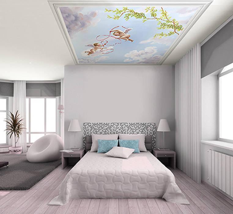 Papier Peint Plafond Trompe L Oeil papier peint pour plafond ciel et angelots: murs & sols de style de