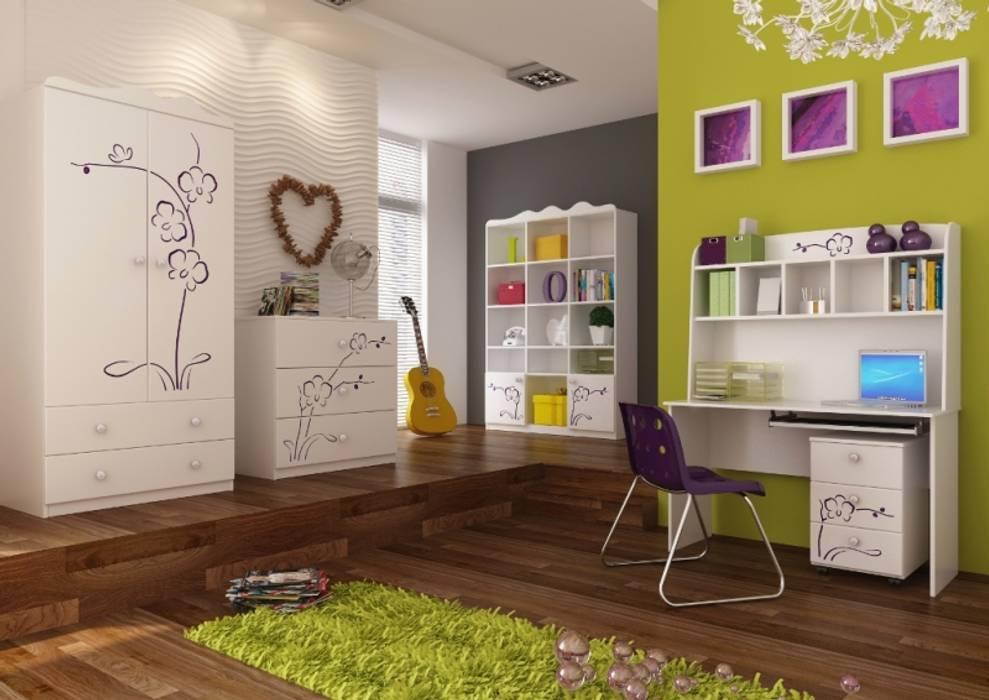 Kinderzimmer Orchidee Lila:  Kinderzimmer von Möbelgeschäft MEBLIK