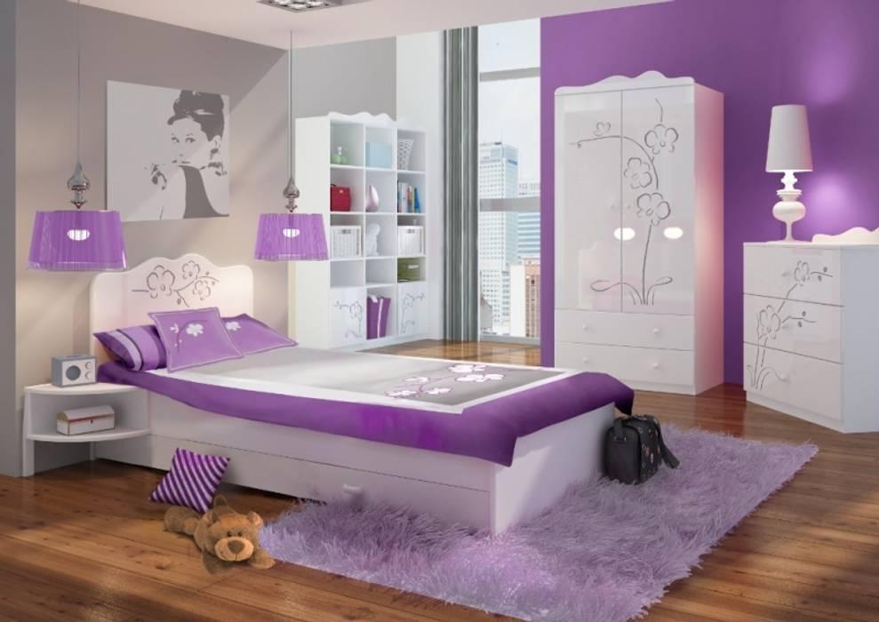 Kinder-/Jugendzimmer Orchidee Silber:  Kinderzimmer von Möbelgeschäft MEBLIK