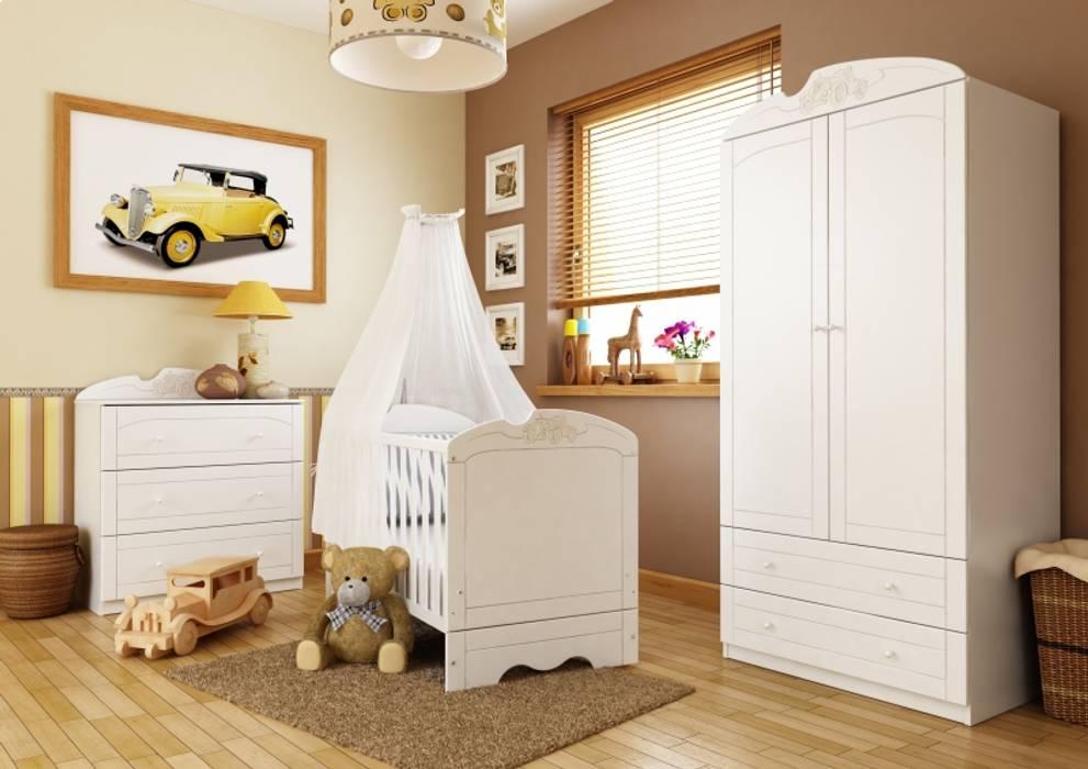Babyzimmer Bianco Mobile Klassische Kinderzimmer von Möbelgeschäft MEBLIK Klassisch