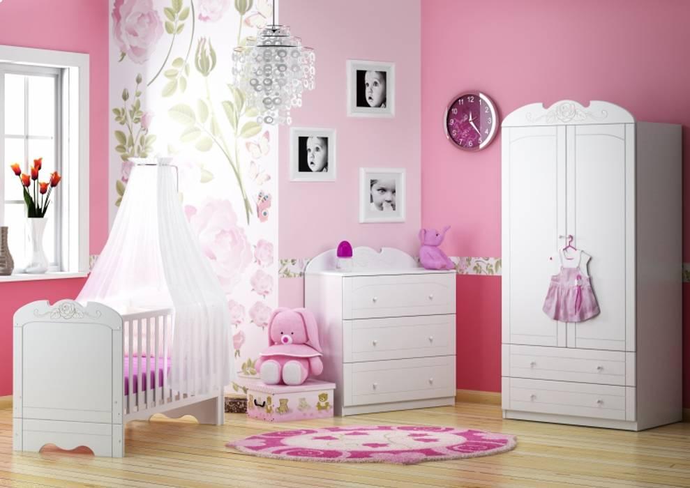 Babyzimmer Bianco Fiori:  Kinderzimmer von Möbelgeschäft MEBLIK