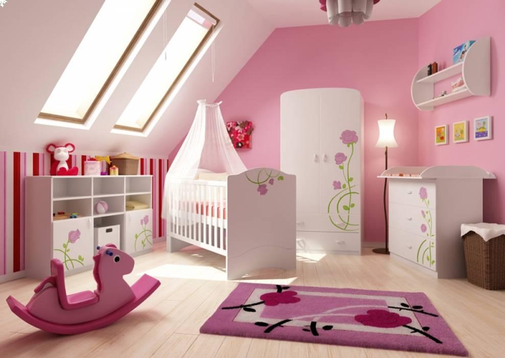 Rose Rosa:  Kinderzimmer von Möbelgeschäft MEBLIK
