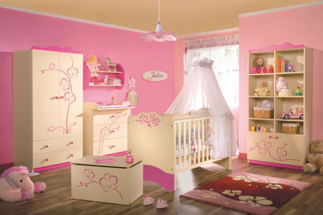 Babyzimmer Orchidee Rosa:  Kinderzimmer von Möbelgeschäft MEBLIK
