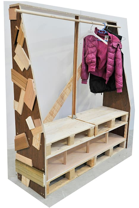 ATELIER D'éco SOLIDAIRE BedroomWardrobes & closets