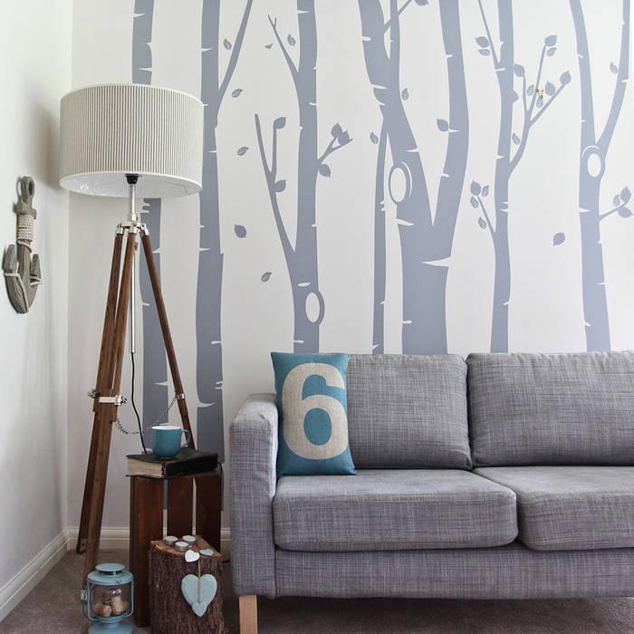 Birch tree forest wall sticker par Vinyl Impression Moderne