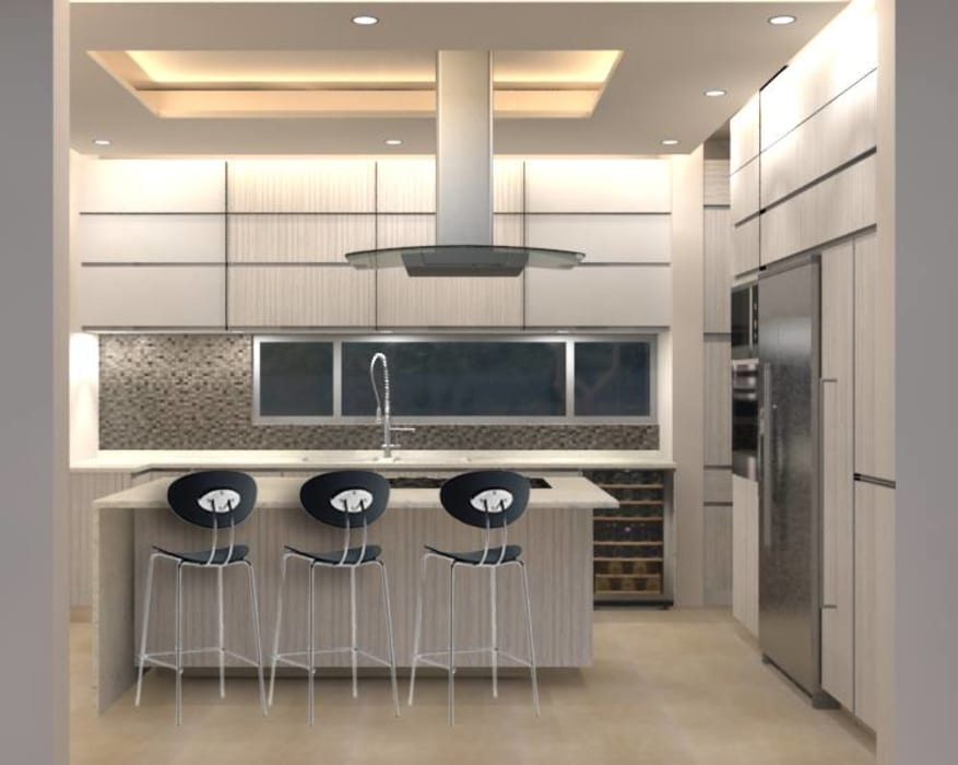 COCINA RESIDENCIAL: Cocinas de estilo  por GHT EcoArquitectos