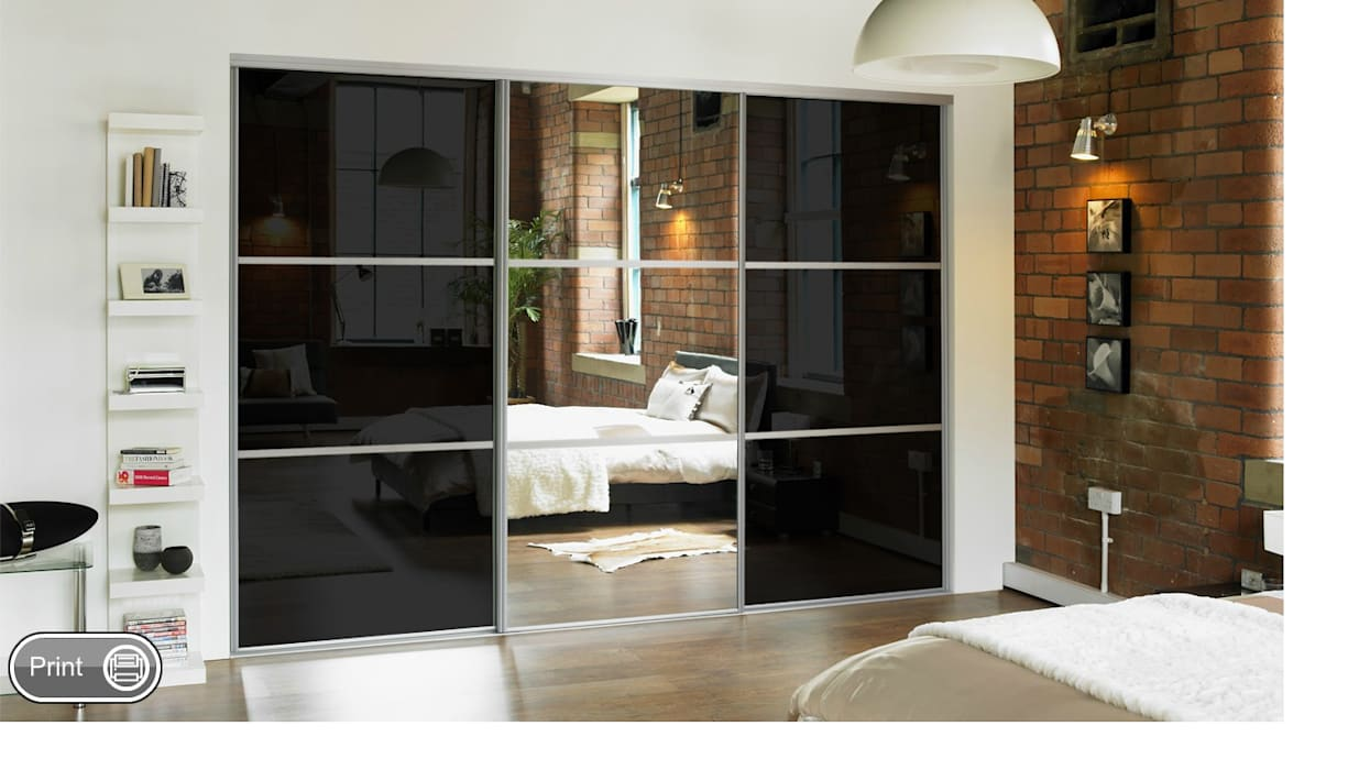 Mirror Sliding Doors Wardrobe Design Online BedroomWardrobes & closets