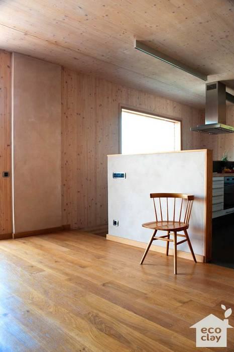 morteros de arcilla ecoclay Casas de estilo moderno de ecoclay Moderno
