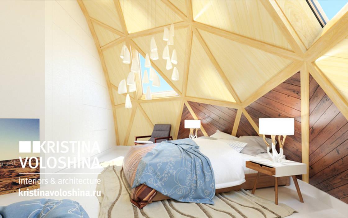 современный  интерьер  двухуровневой  квартиры: Спальни в . Автор – kristinavoloshina,