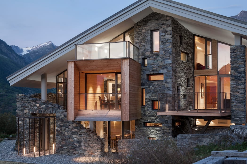 Mineral Lodge: Salle à manger de style  par Concrete LCDA