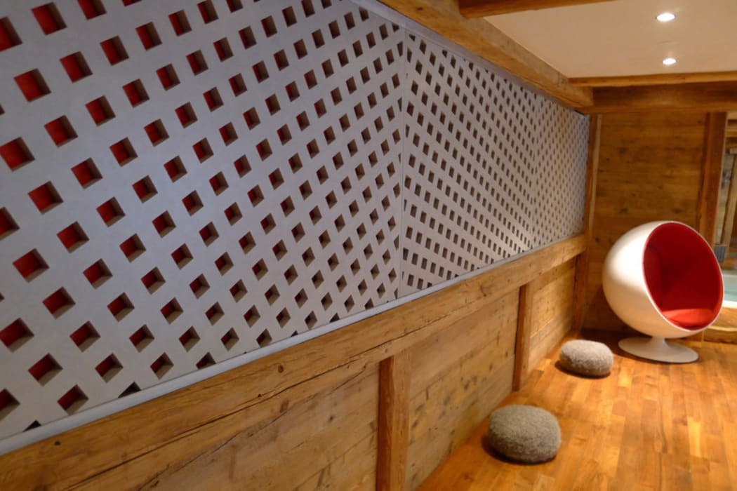 Chalet Courchevel Concrete LCDA Spa moderne