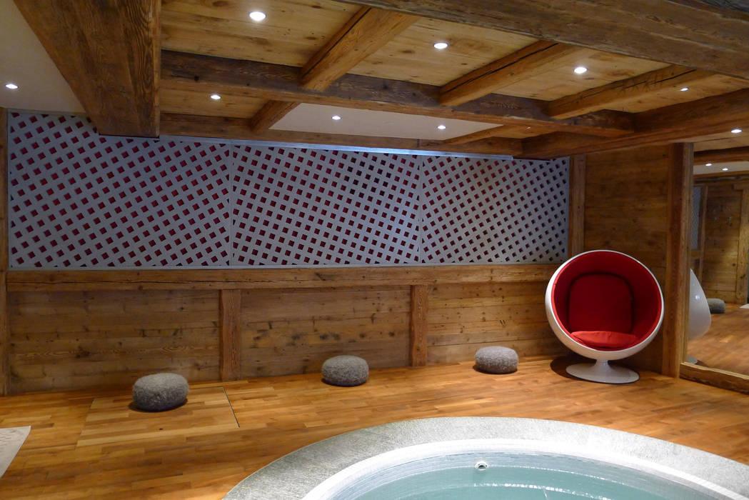 Chalet Courchevel - Panneaux muraux Concrete LCDA Spa moderne