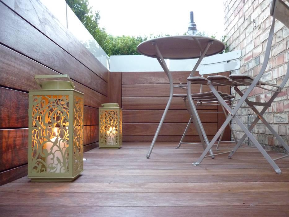 Roof terrace 2 Balcony, veranda & terrace by Paul Newman Landscapes