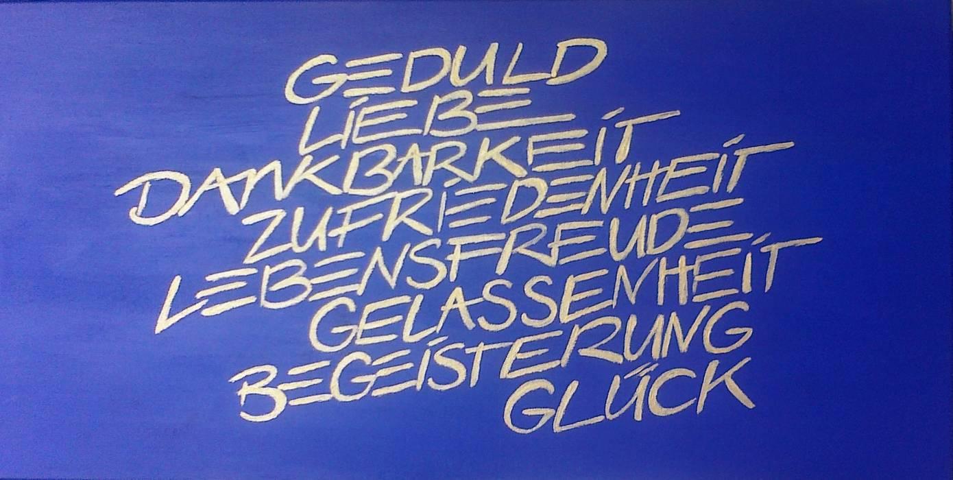 Worte Moderne Esszimmer von Wohnen & Kunst Modern