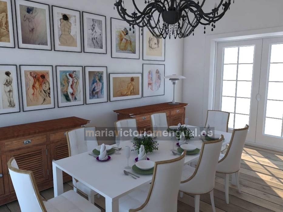 Zona de comedor.: Salones de estilo  de MUMARQ ARQUITECTURA E INTERIORISMO