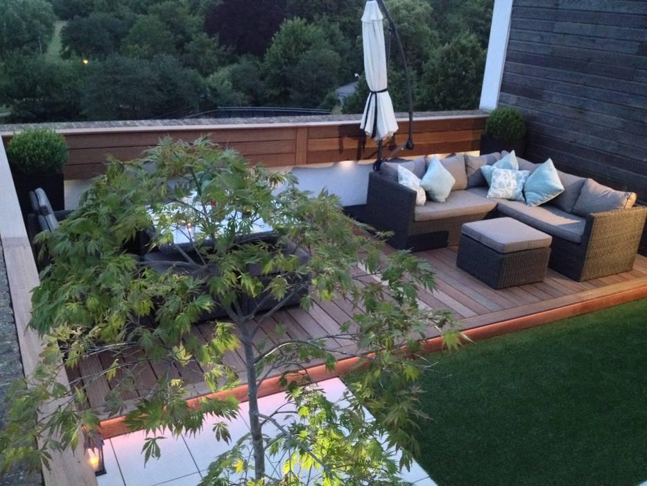 Roof terrace 3:  Balconies, verandas & terraces  by Paul Newman Landscapes