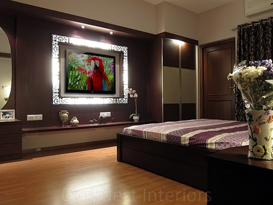 Agarwal Residence: modern Bedroom by Cozy Nest Interiors