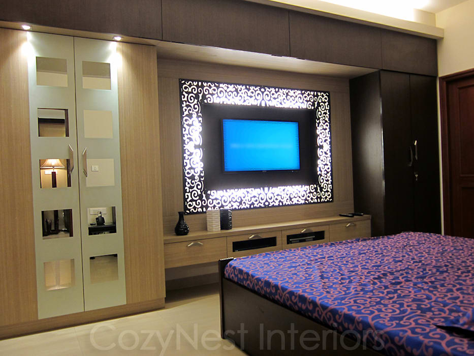 Bharani Residence Modern style bedroom by Cozy Nest Interiors Modern