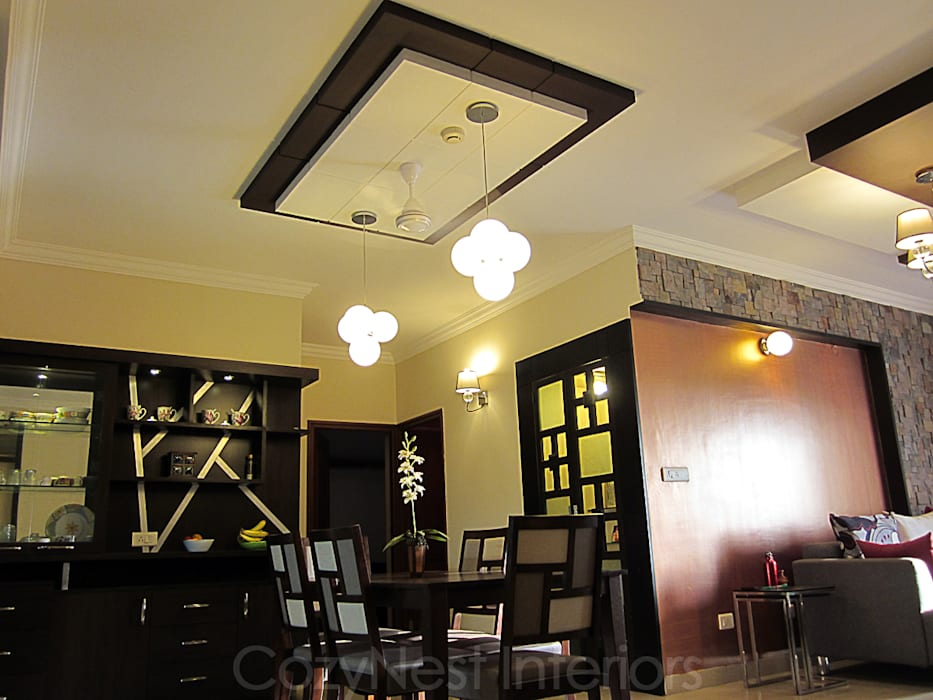 Ramamoorthy Residence: modern Dining room by Cozy Nest Interiors