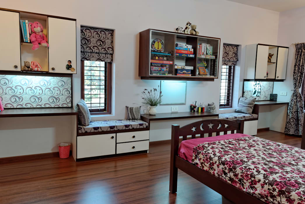 Jaya & Rajesh : modern Nursery/kid's room by Cozy Nest Interiors
