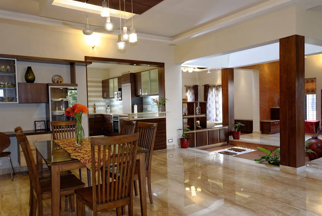 Jaya & Rajesh : modern Conservatory by Cozy Nest Interiors