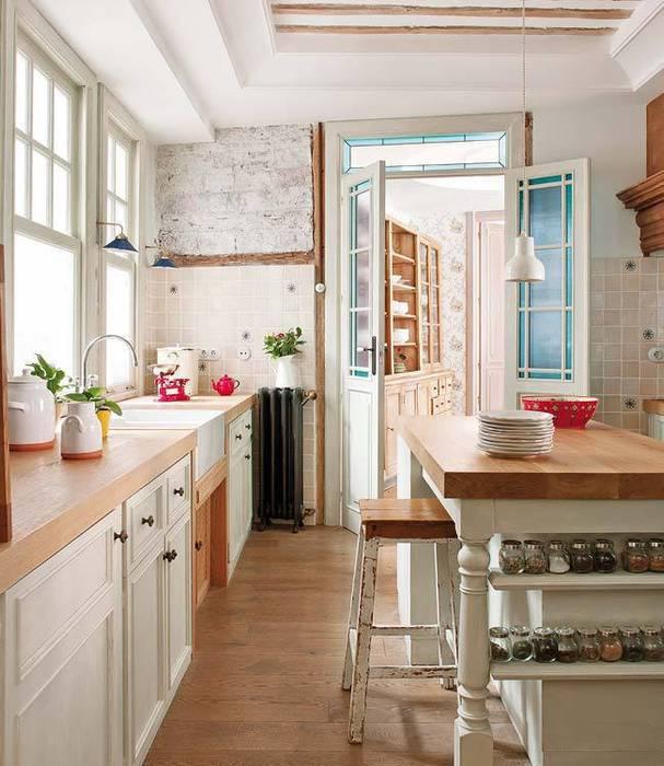 Reforma integral de vivienda Cocinas de estilo ecléctico de Simetrika Rehabilitación Integral Ecléctico