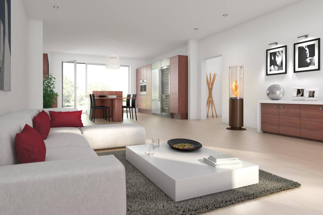 salas recibidores de estilo por spartherm feuerungstechnik gmbh homify. Black Bedroom Furniture Sets. Home Design Ideas