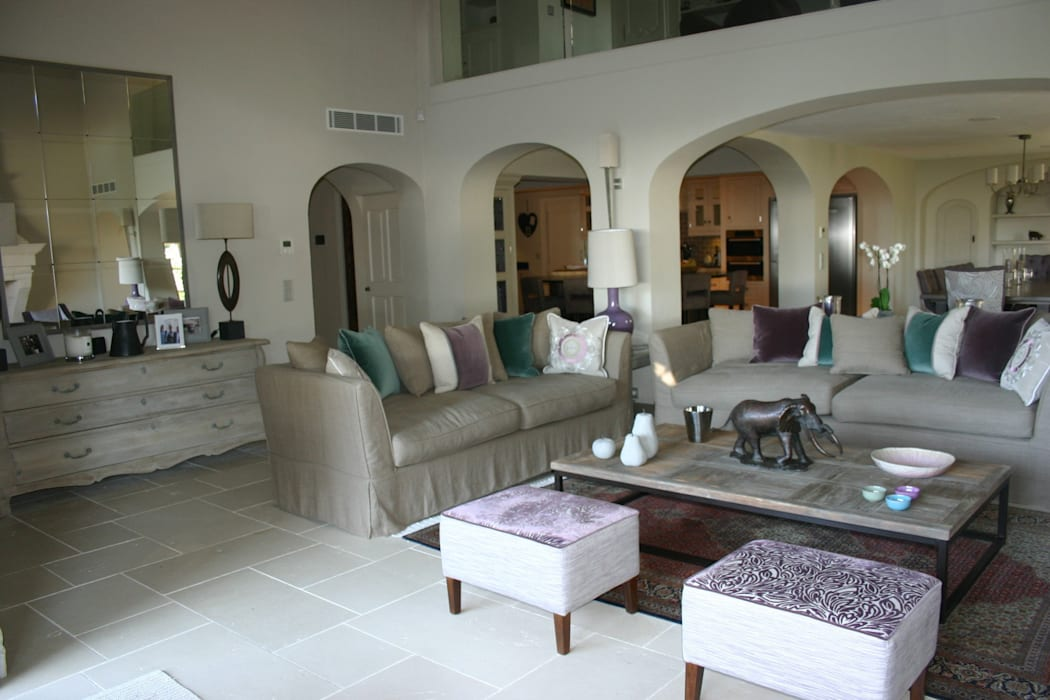 Living Room Mediterranean style dining room by Rachel Angel Design Mediterranean