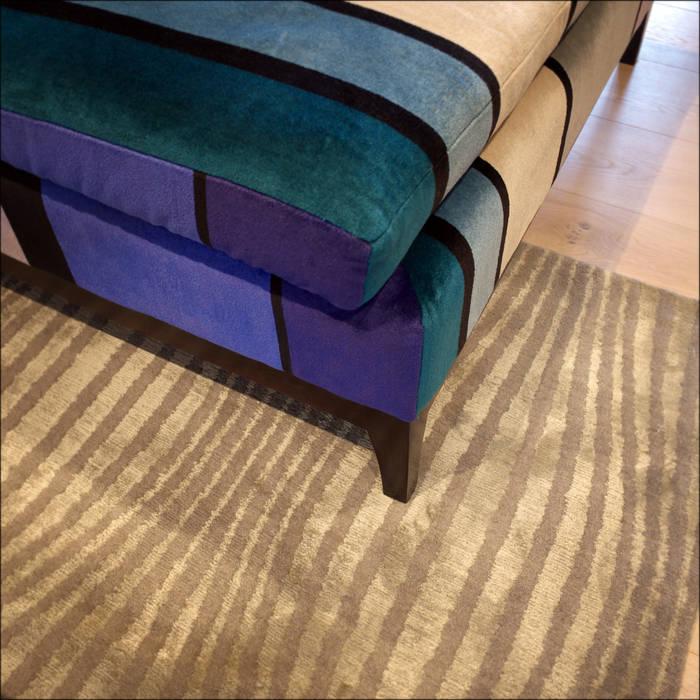 TV Room: modern Living room by White Linen Interiors Ltd