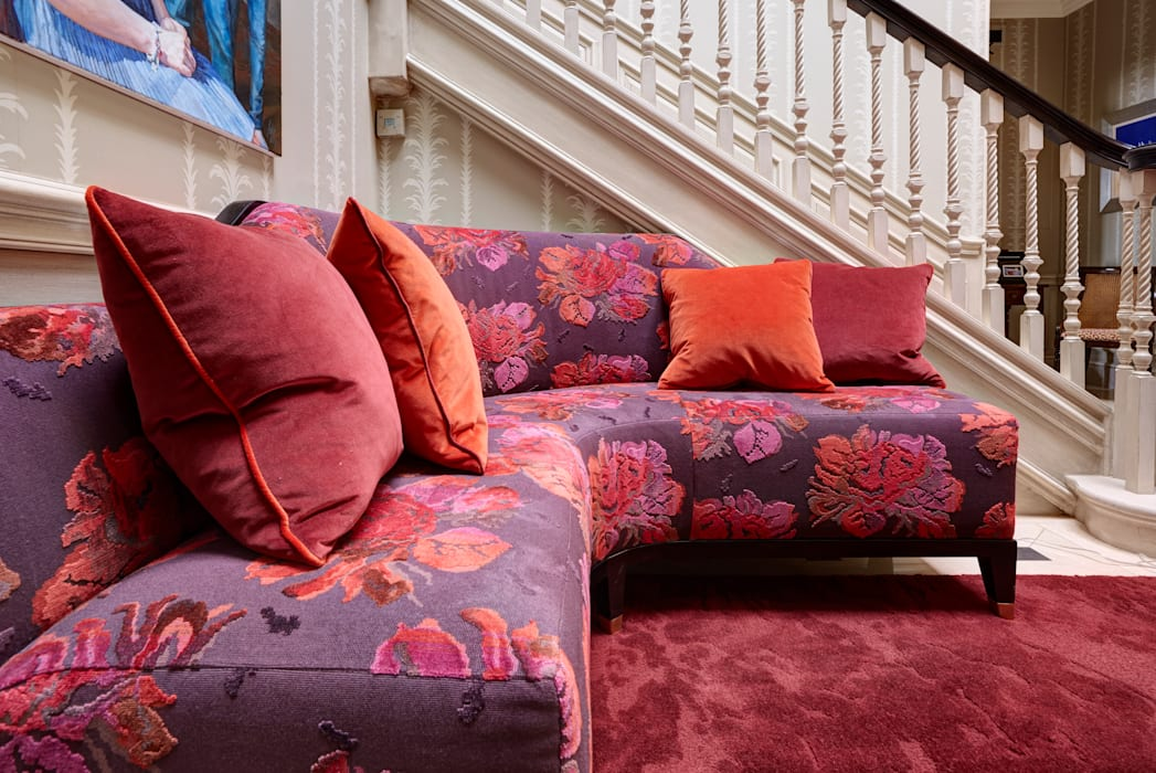 Bespoke corner sofa:  Corridor & hallway by White Linen Interiors Ltd