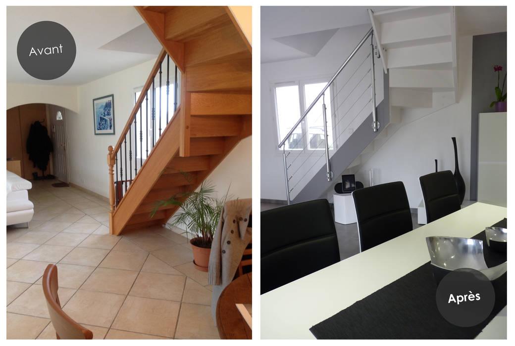 Rénovation d'une maison à Villeneuve-Lès-Bouloc (31) par Audrey Ardalan Moderne