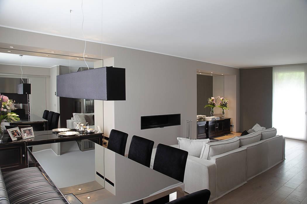 il Living Sala da pranzo moderna di STUDIO PAOLA FAVRETTO SAGL - INTERIOR DESIGNER Moderno Ferro / Acciaio