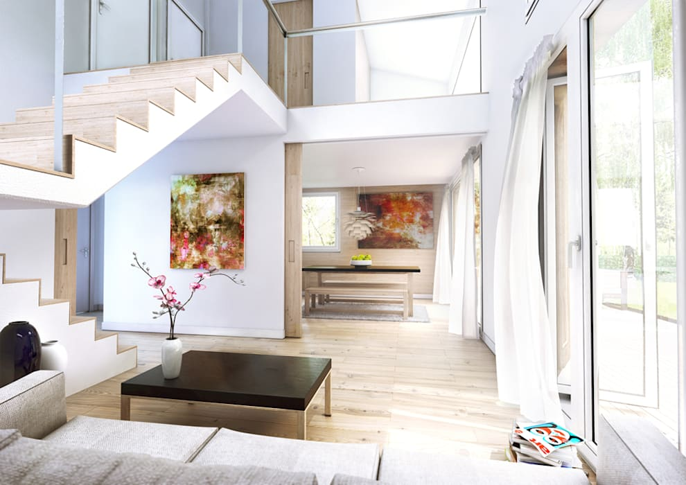 Ruang Keluarga Modern Oleh ecohome 4.2 Modern