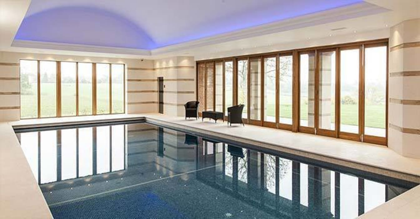 Swimming pool with sauna and steam room Batts Hall Modern spa by Leisurequip Limited Modern