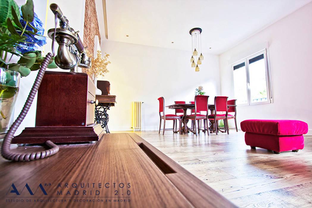 Reforma integral de piso en Madrid: Comedores de estilo  de Arquitectos Madrid 2.0
