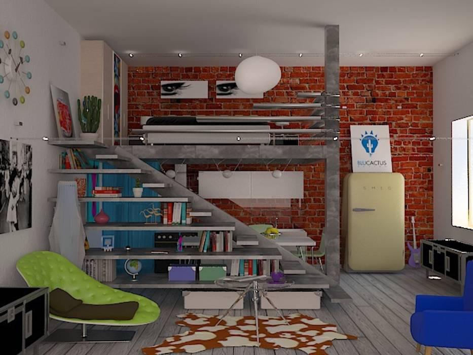 Soppalco vintage: Case in stile  di blucactus design Studio