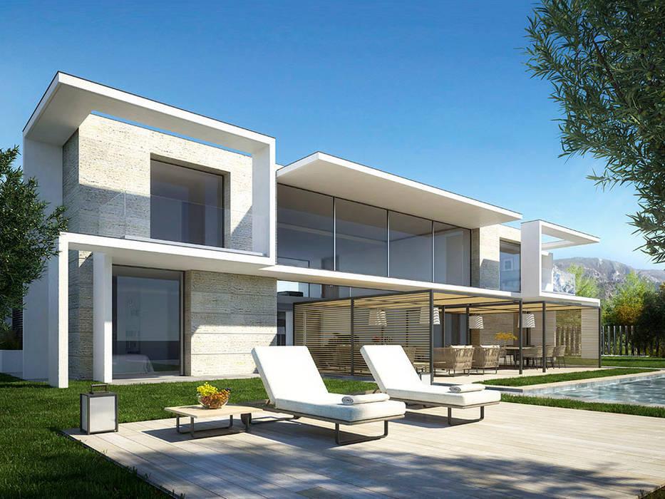 Infografia 3D villa de lujo en la Costa Azul: Casas de estilo  de Berga&Gonzalez - arquitectura y render