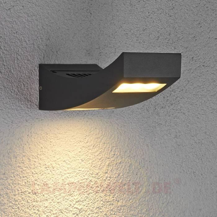 LED-Außenwandleuchte Jamie, IP54: modern  von Lampenwelt.de,Modern