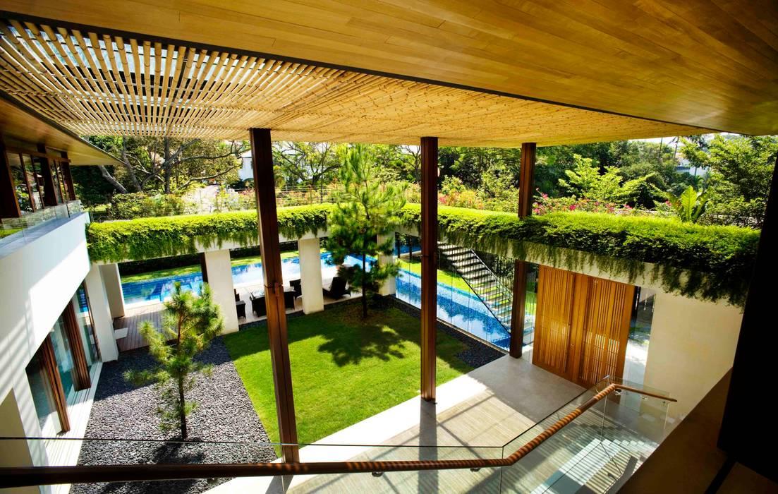 Maryland Drive Guz Architects Balcony, veranda & terrace