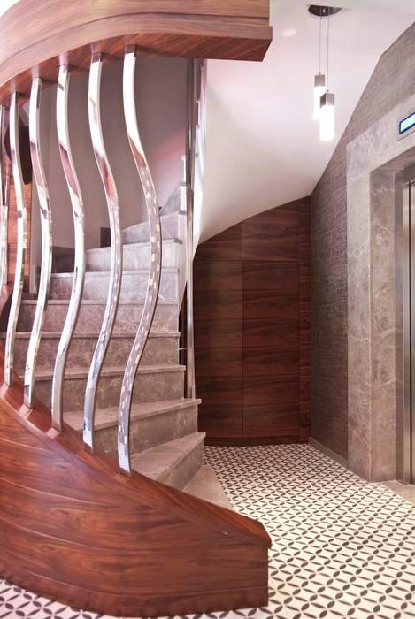 stairway Rustic style houses by AreDEKO & AreSETS Rustic