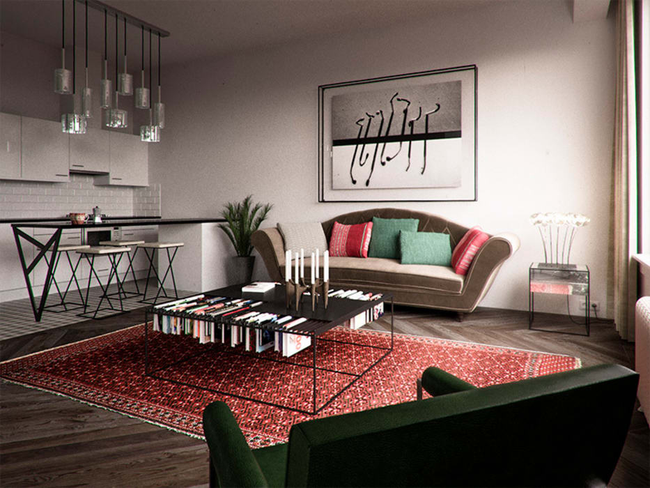 Den Haag apartment: modern Living room by Haag Architects
