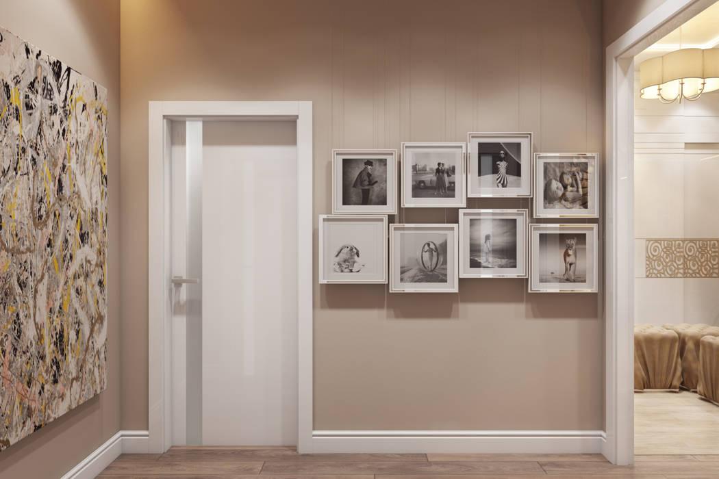 Corredores e halls de entrada  por Дарья Баранович Дизайн Интерьера
